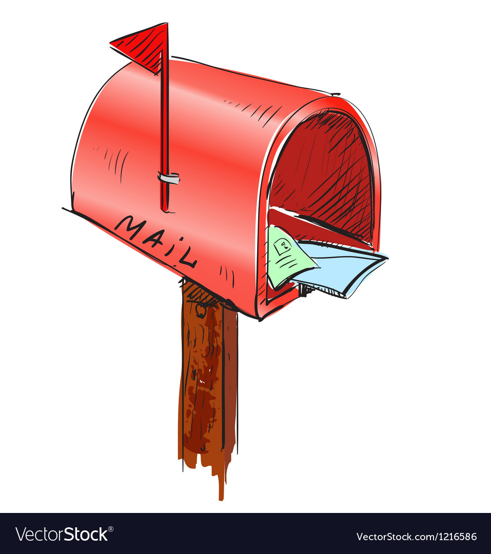 mailbox cartoon icon royalty free vector image rh vectorstock com mailbox cartoon pic cartoon mailbox gif