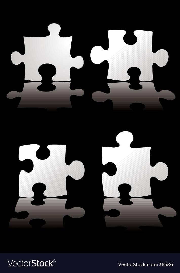 Puzzle shadow vector image
