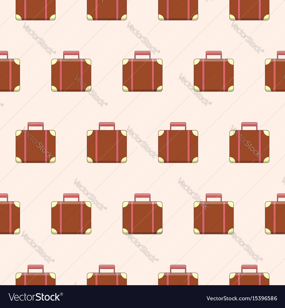 Seamless pattern with cute suitcases vector image