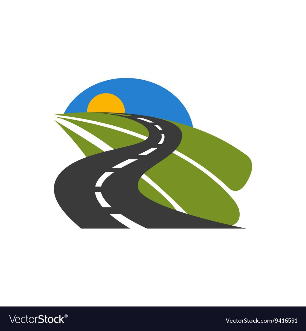 Black car road icon