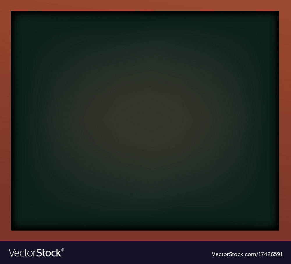 Black school chalkboard with frame template for