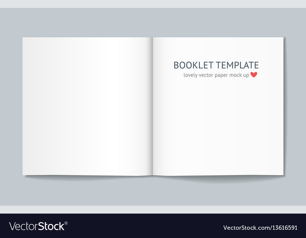 Blank booklet with shadow isolated on background vector image