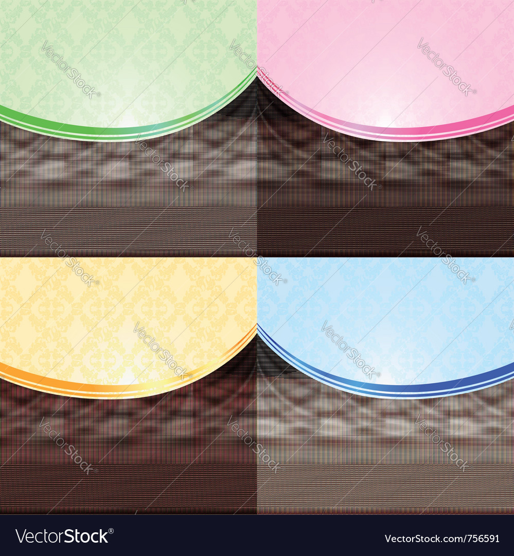 Colored set curtain silk tissue