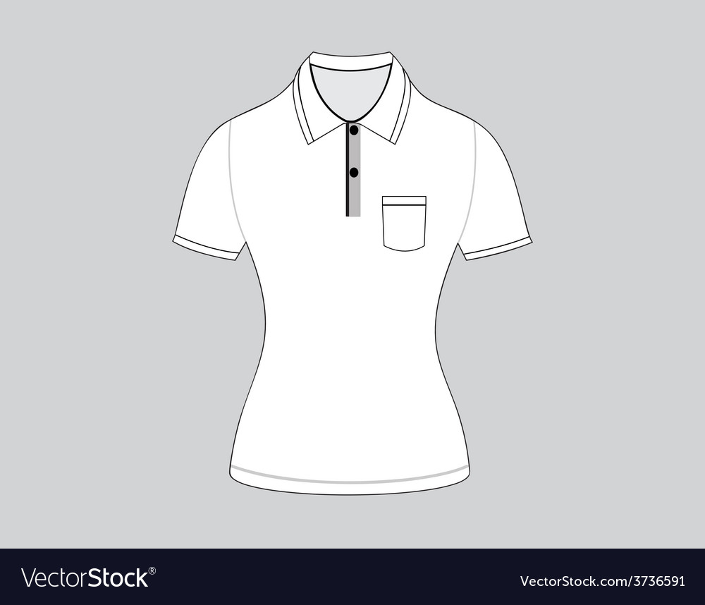 Polo shirt outline on white background5 01