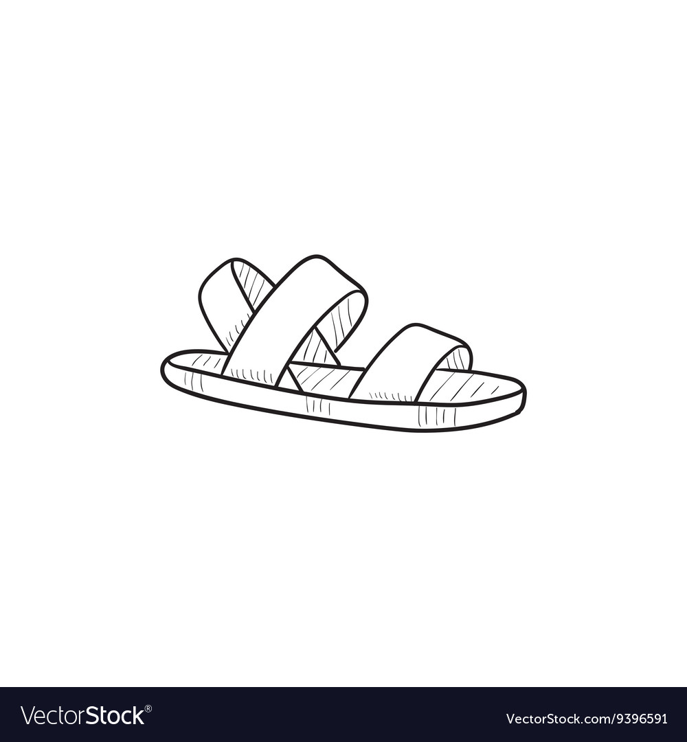 Sandal sketch icon Royalty Free Vector