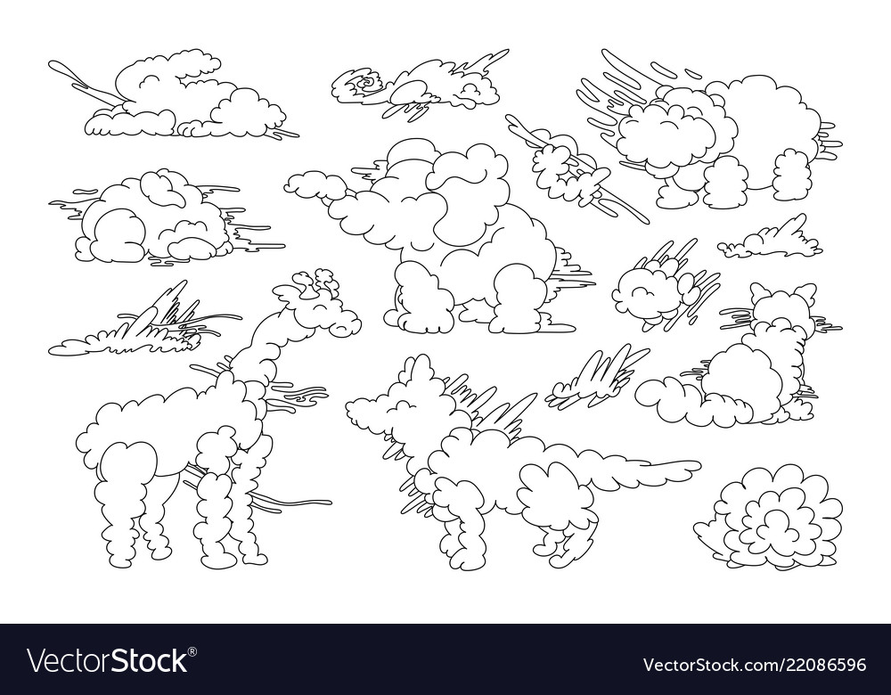 Animal shaped cloud set