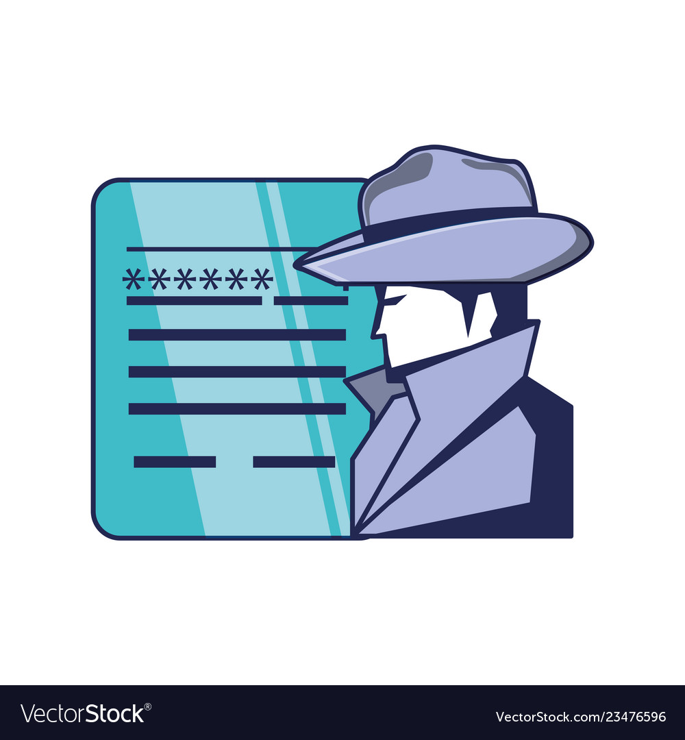 Cyber security agent and document with password