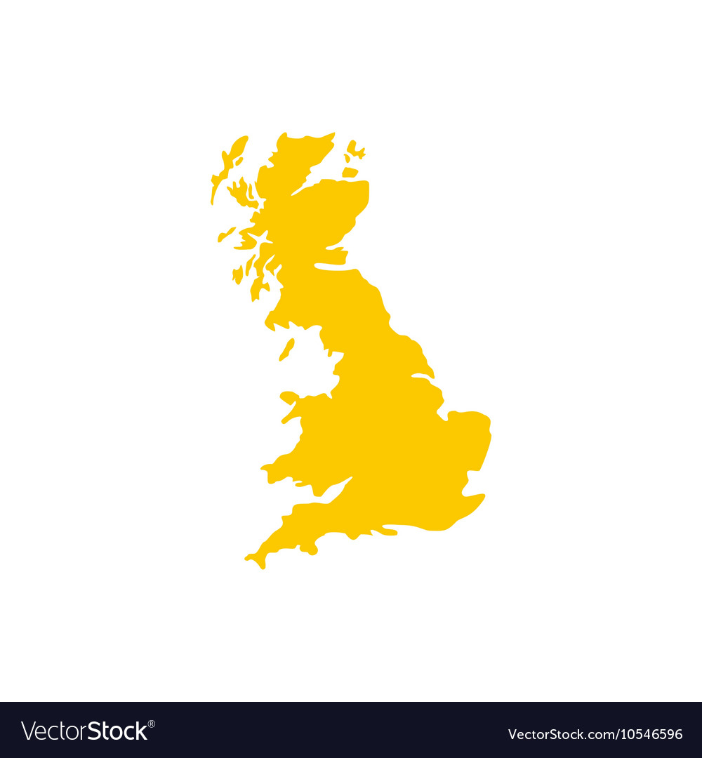 Map of Great Britain icon flat style