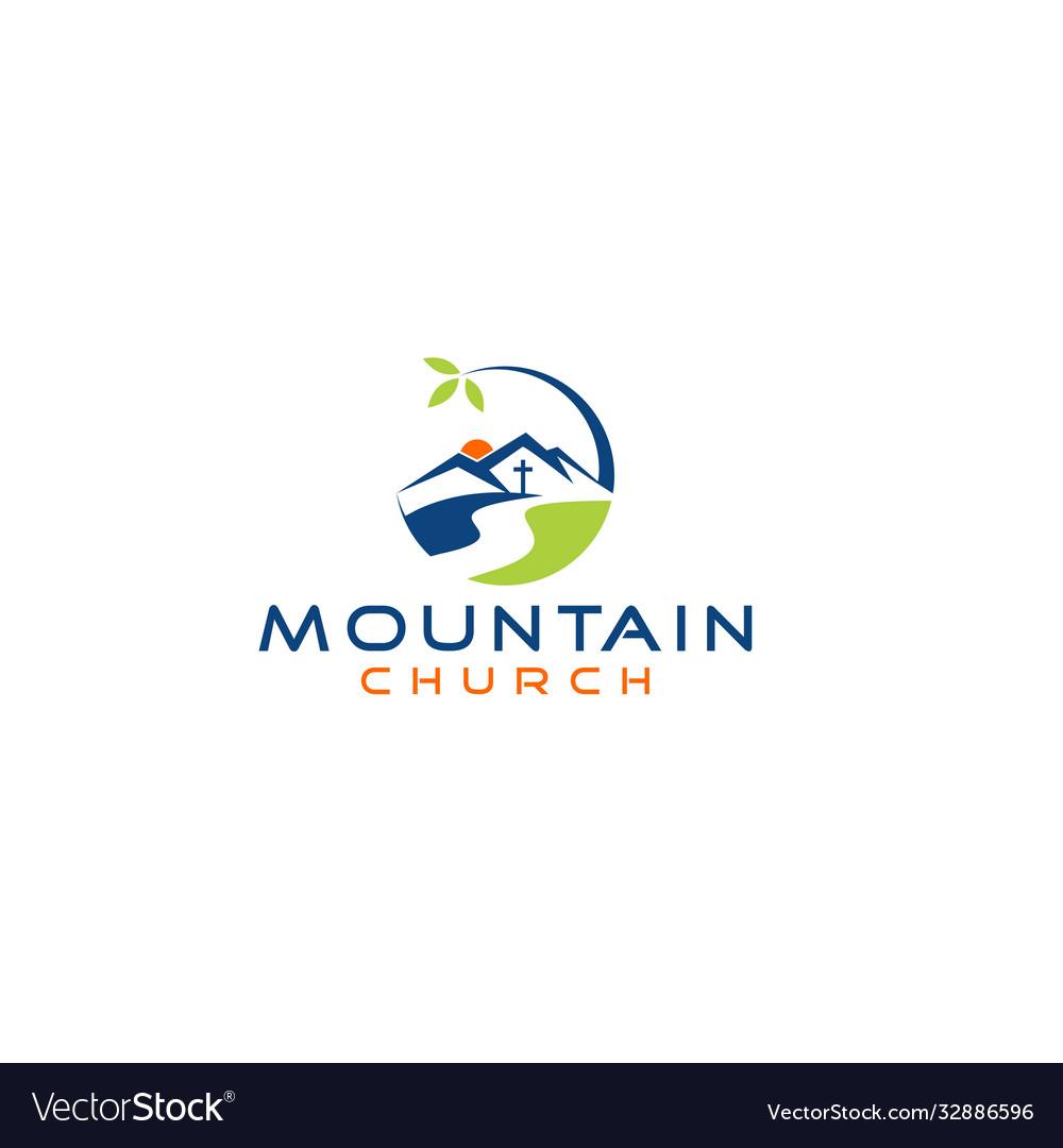 Mountain church logo design