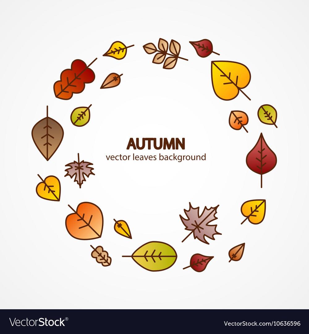 Fall leaves modern. Nice autumn decorative