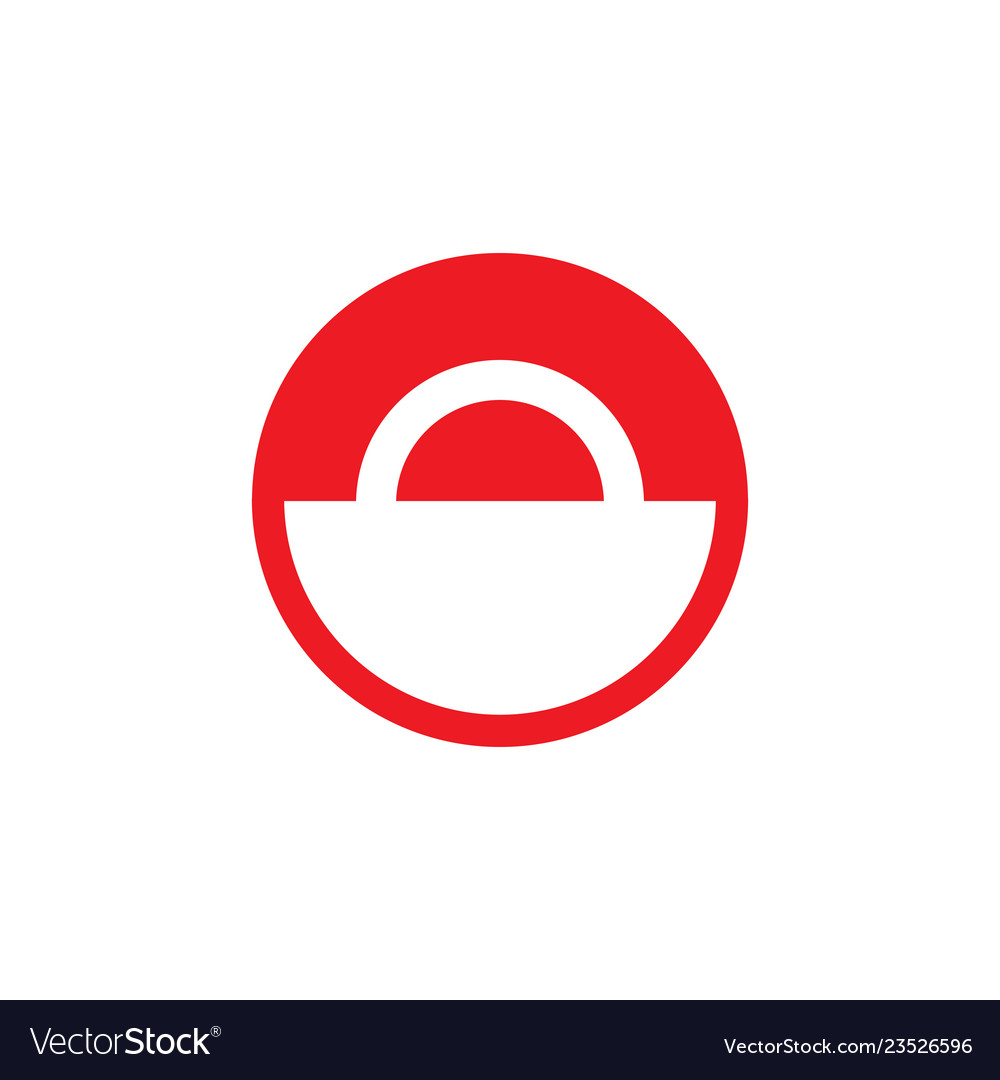 Red and white circle sign