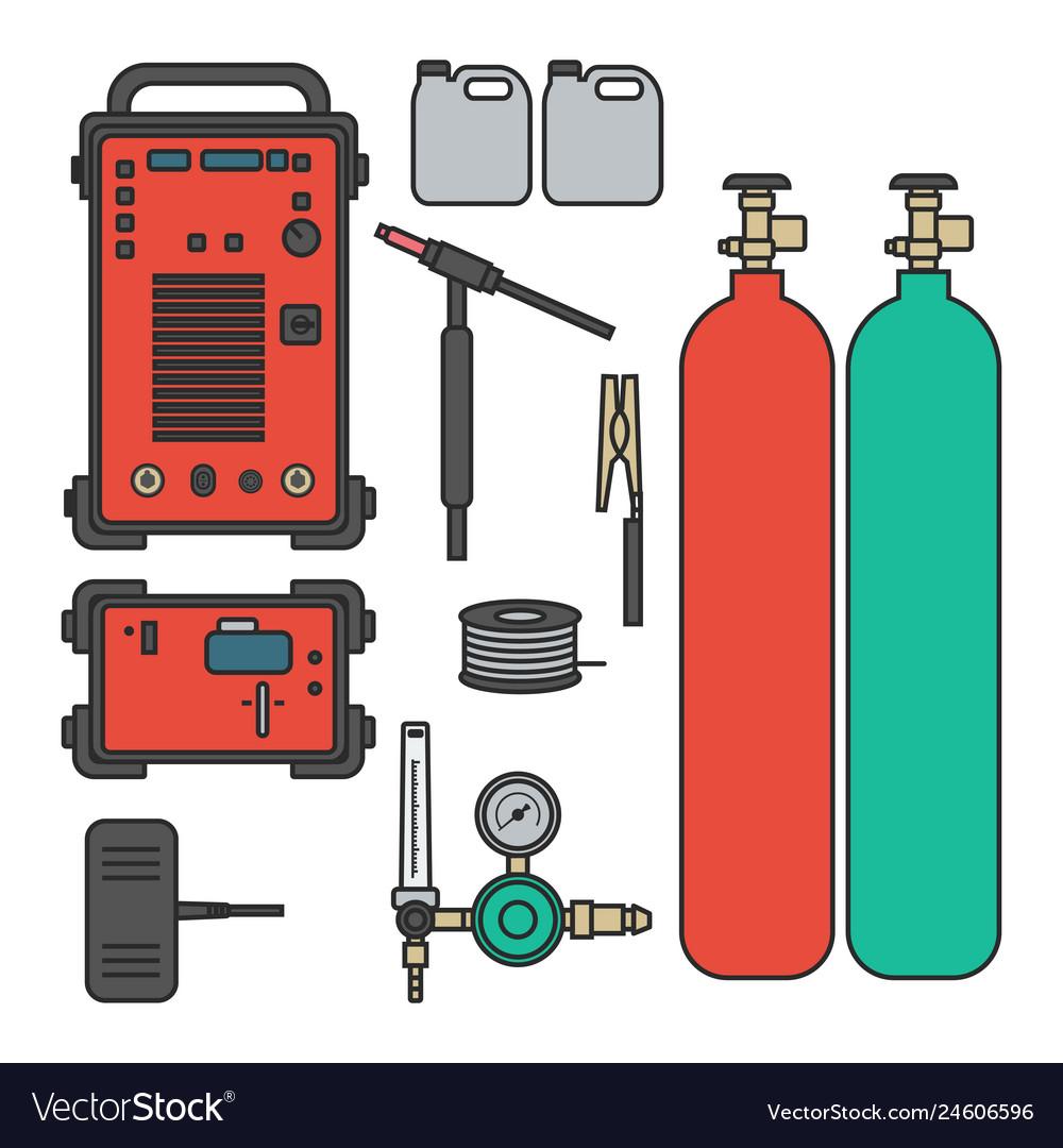 Set of gas welding argon machine with regulator