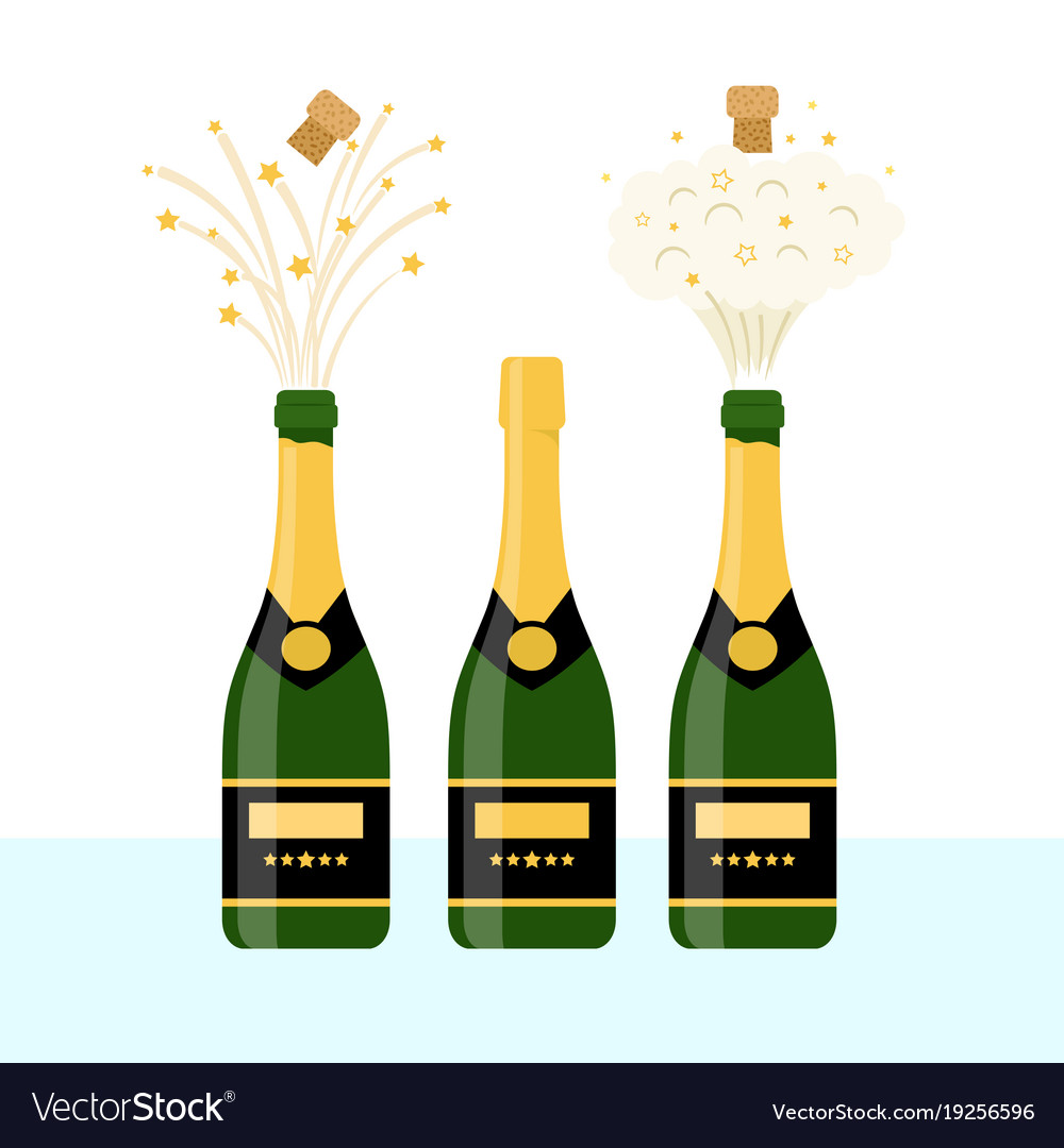 Several bottles of champagne