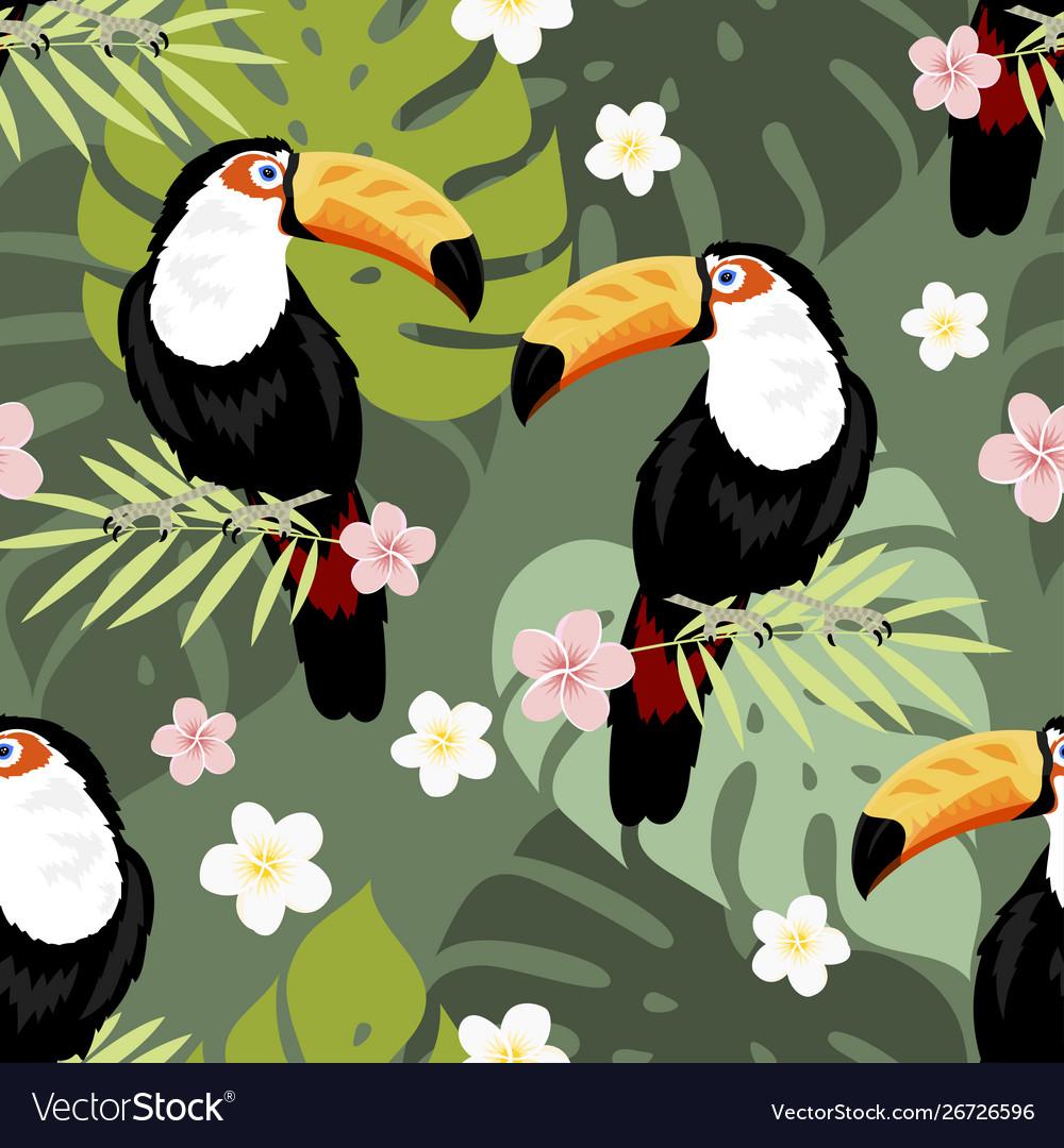 Toucan seamless pattern