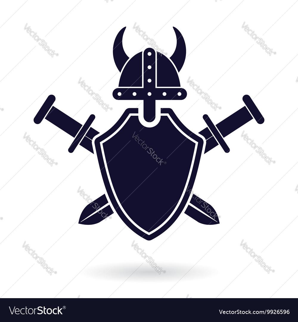 Viking Shield Sword Royalty Free Vector Image Vectorstock