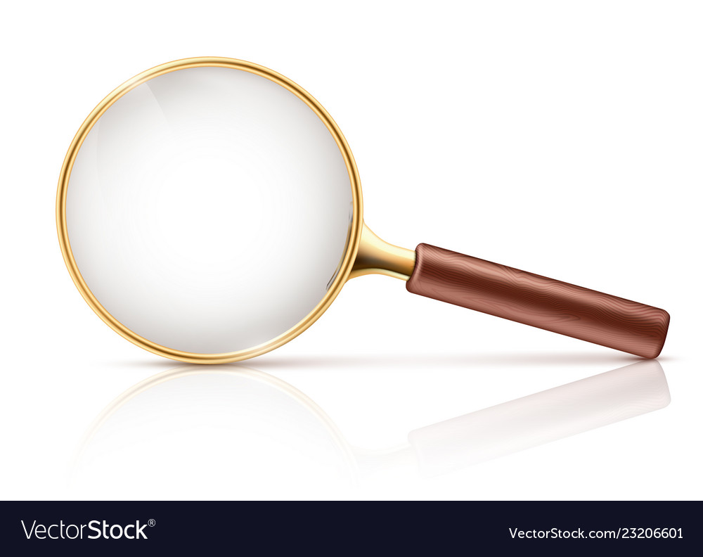 3d realistic magnifying glass optical