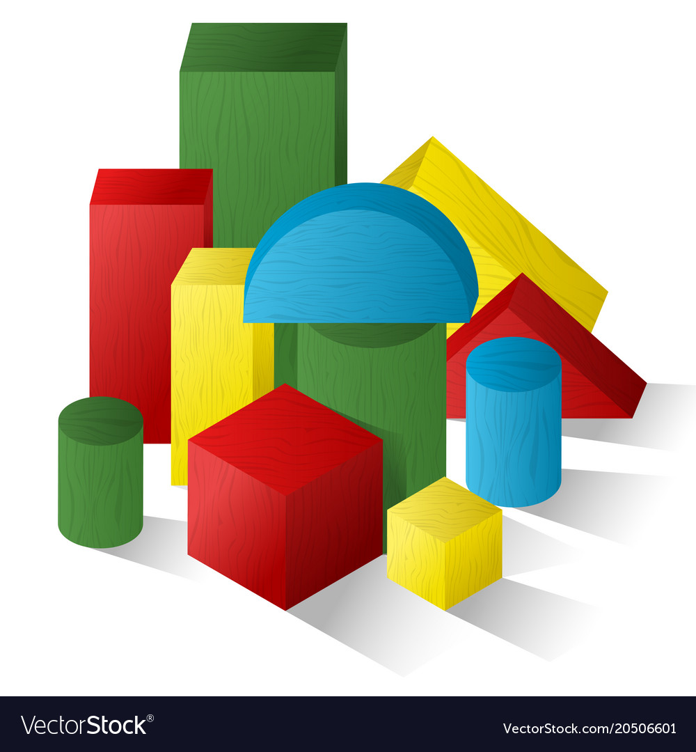 A set of geometric shapes childrens games puzzles