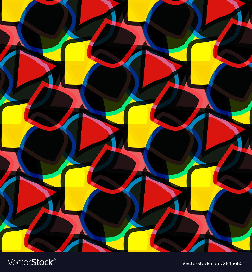 Bright abstract geometric seamless background