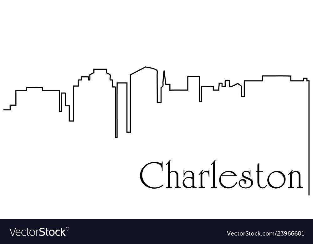 Charleston city one line drawing