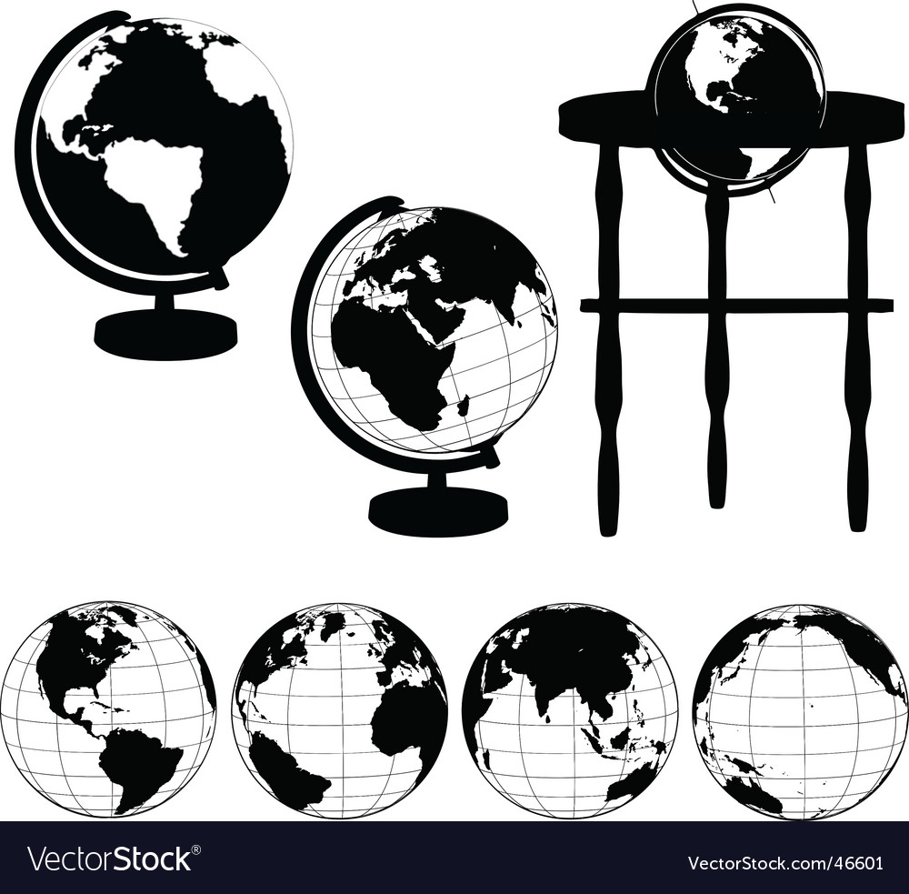 Globes silhouettes