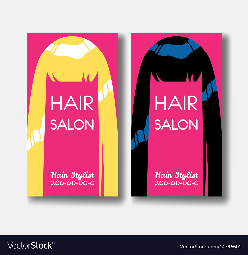 Hair salon business card templates with blonde vector image colourmoves