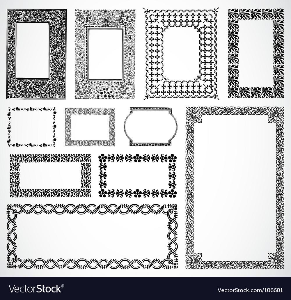 Ornate border frames