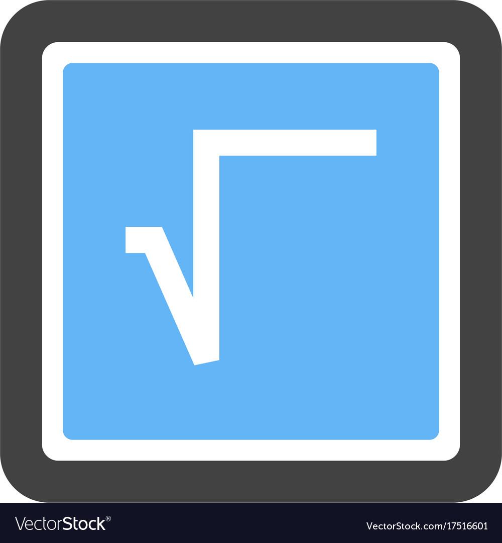Square Root Symbol Royalty Free Vector Image Vectorstock