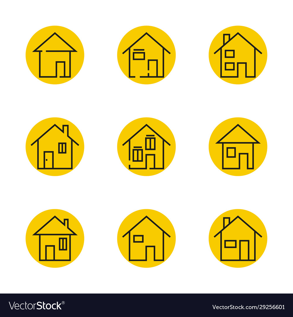 Thin line modern house icon