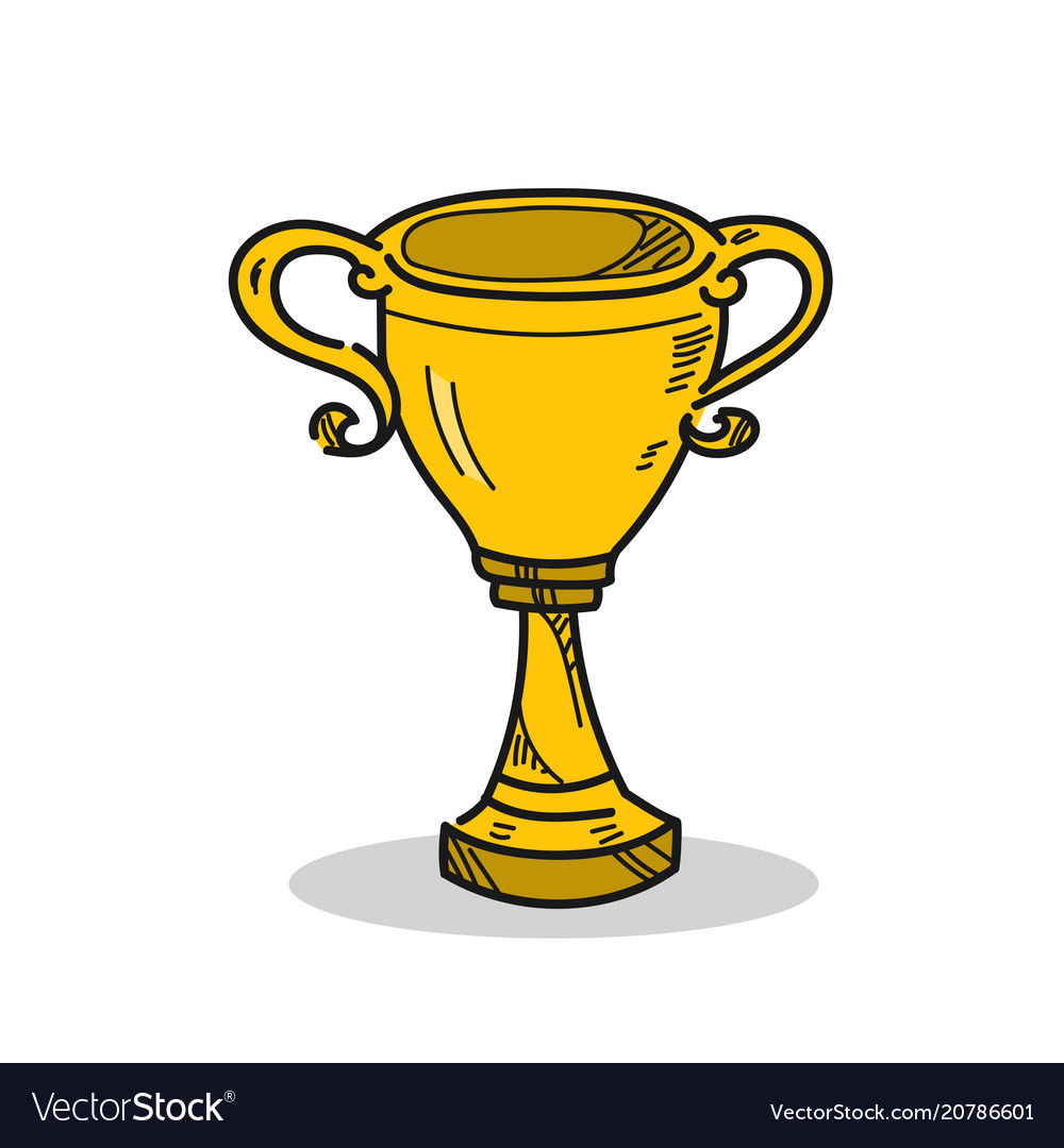 Trophy on a white background
