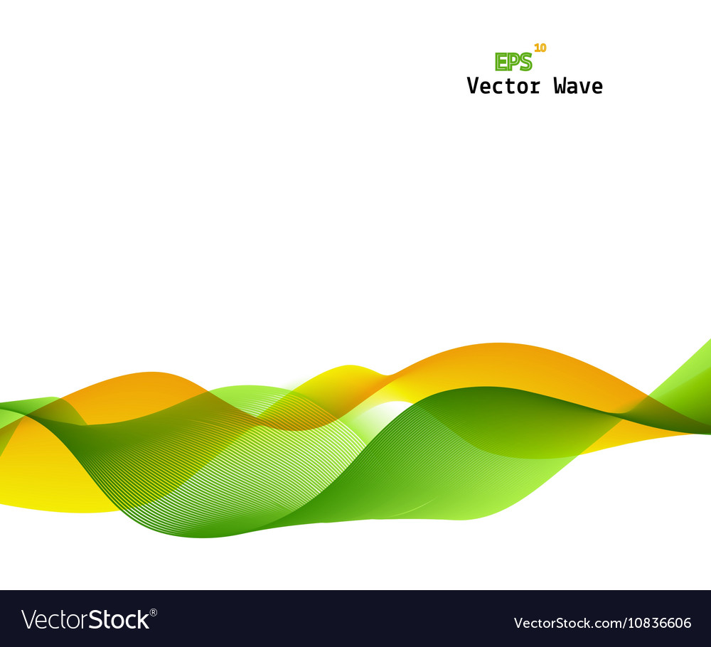 Abstract Green And Yellow Wave On Background