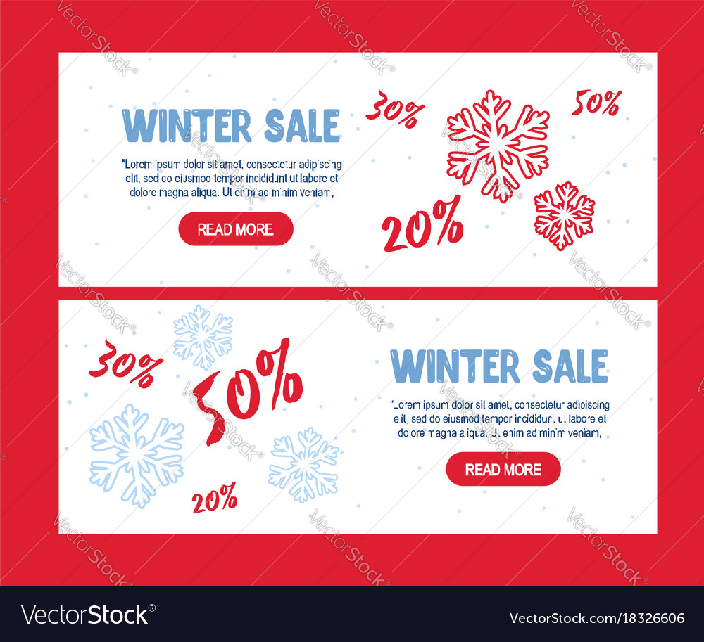 Big winter sale poster christmas greeting card m vector image m4hsunfo