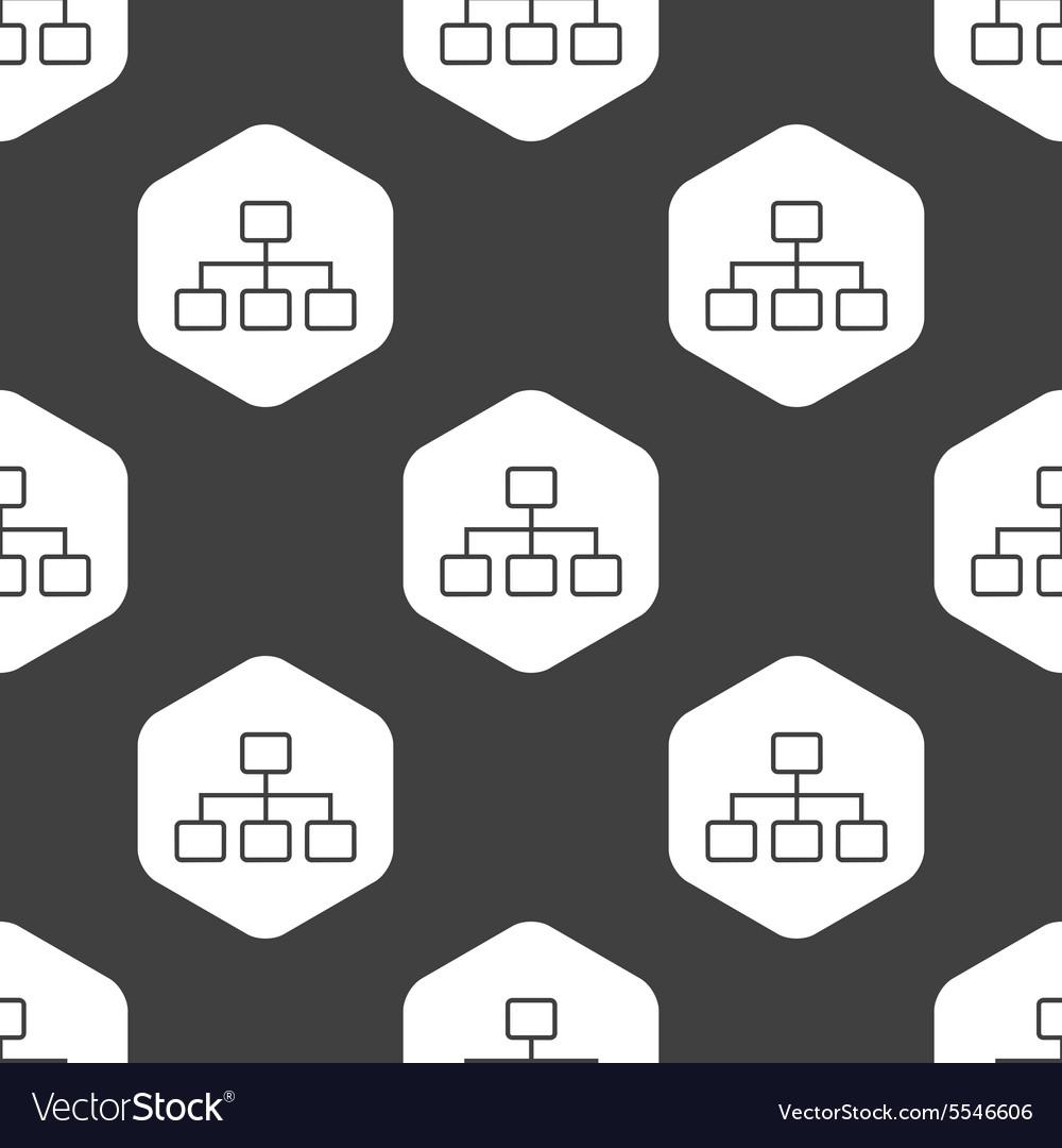 Black hexagon scheme pattern