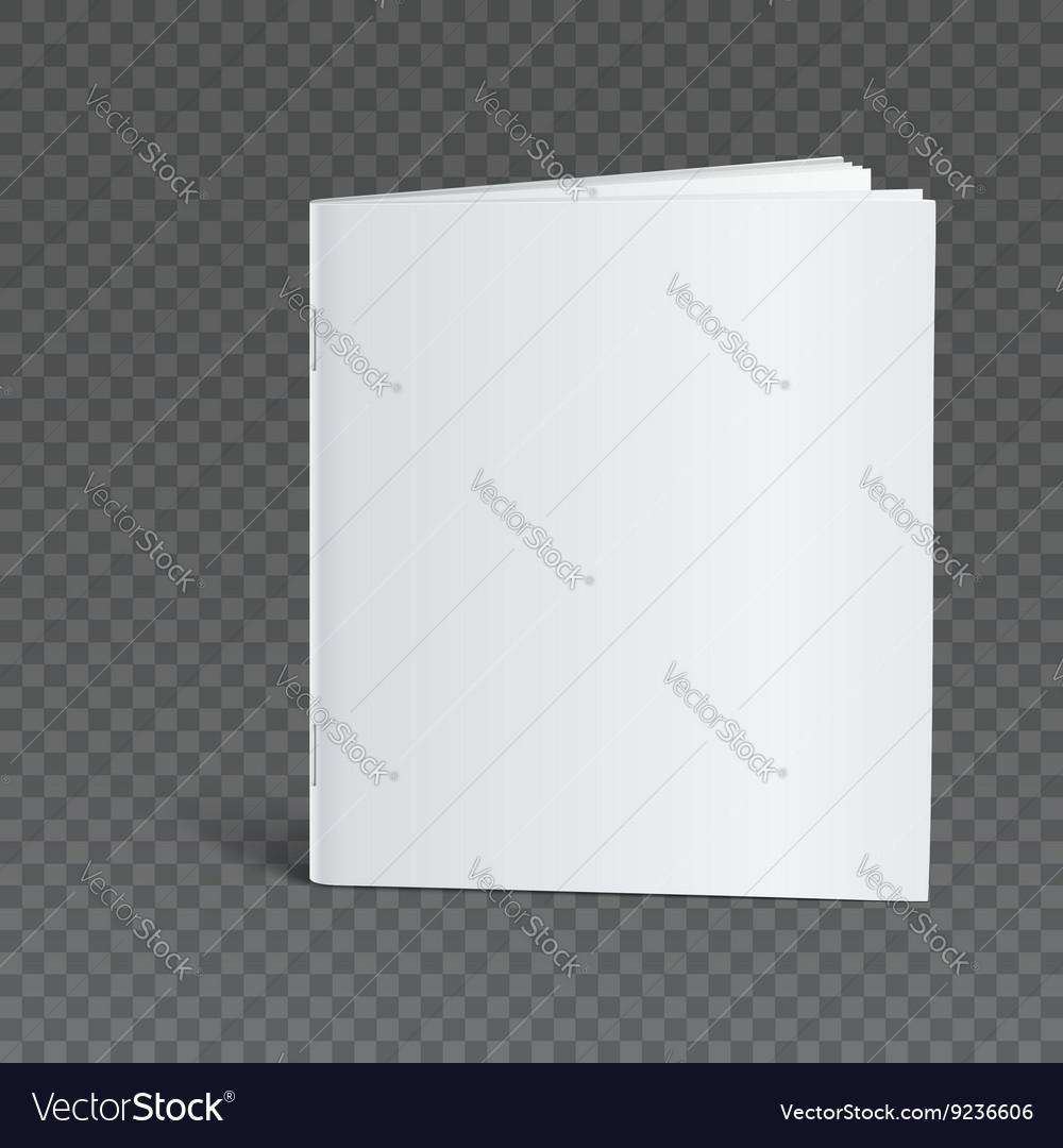 Blank Brochure Template Mock Up Royalty Free Vector Image