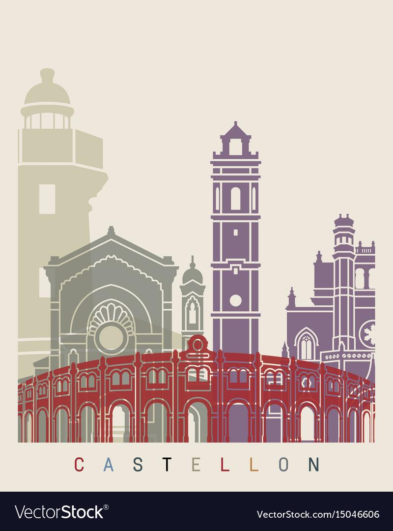Castellon skyline poster