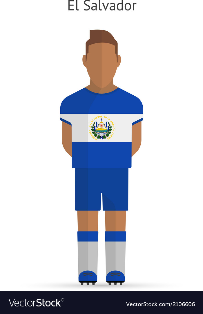 sports shoes 95c4e 3a0ca El Salvador football player Soccer uniform