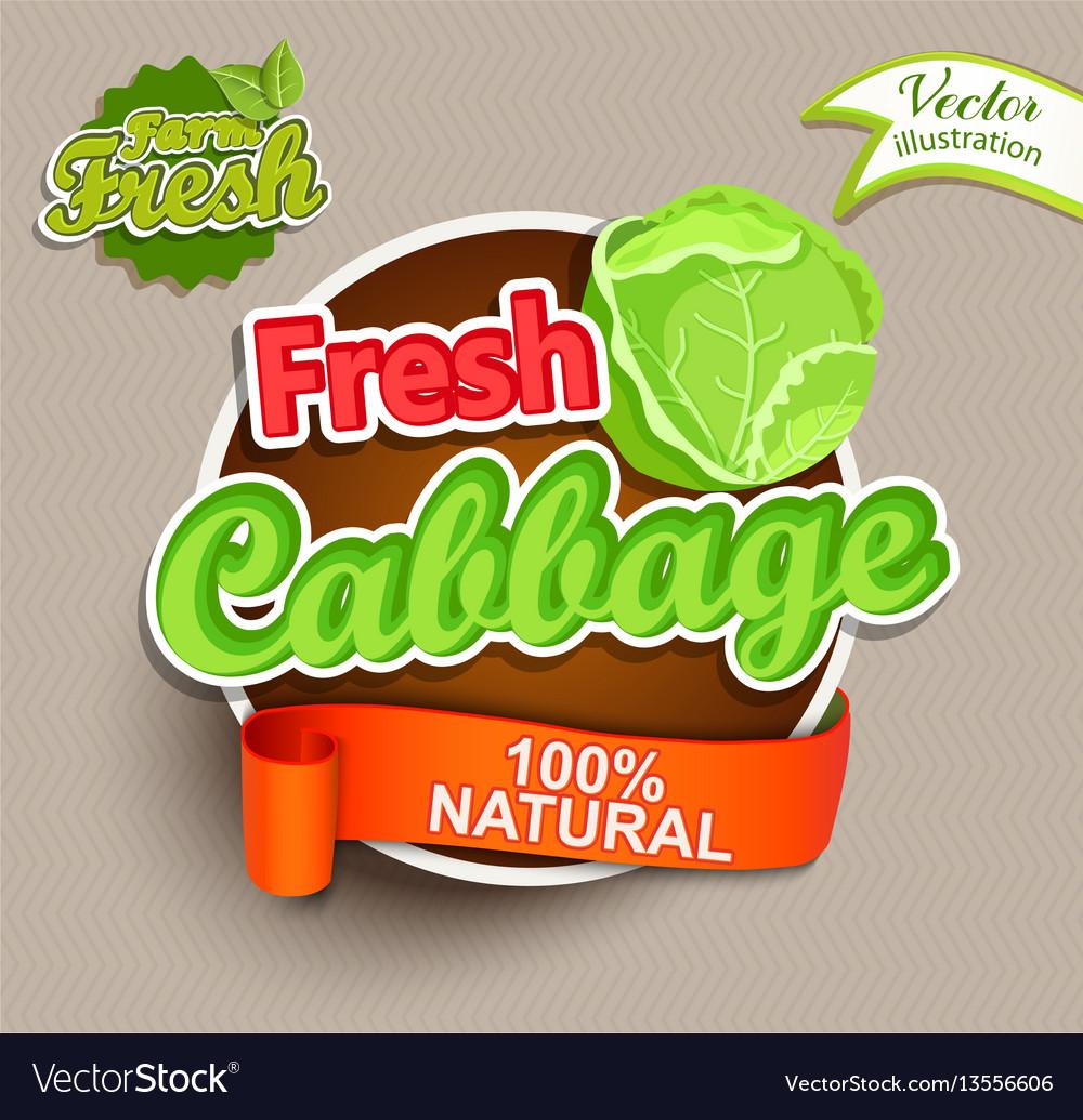 Fresh cabbage logo lettering