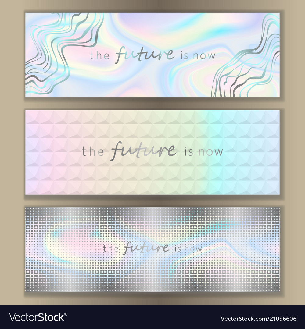Holographic web banner set