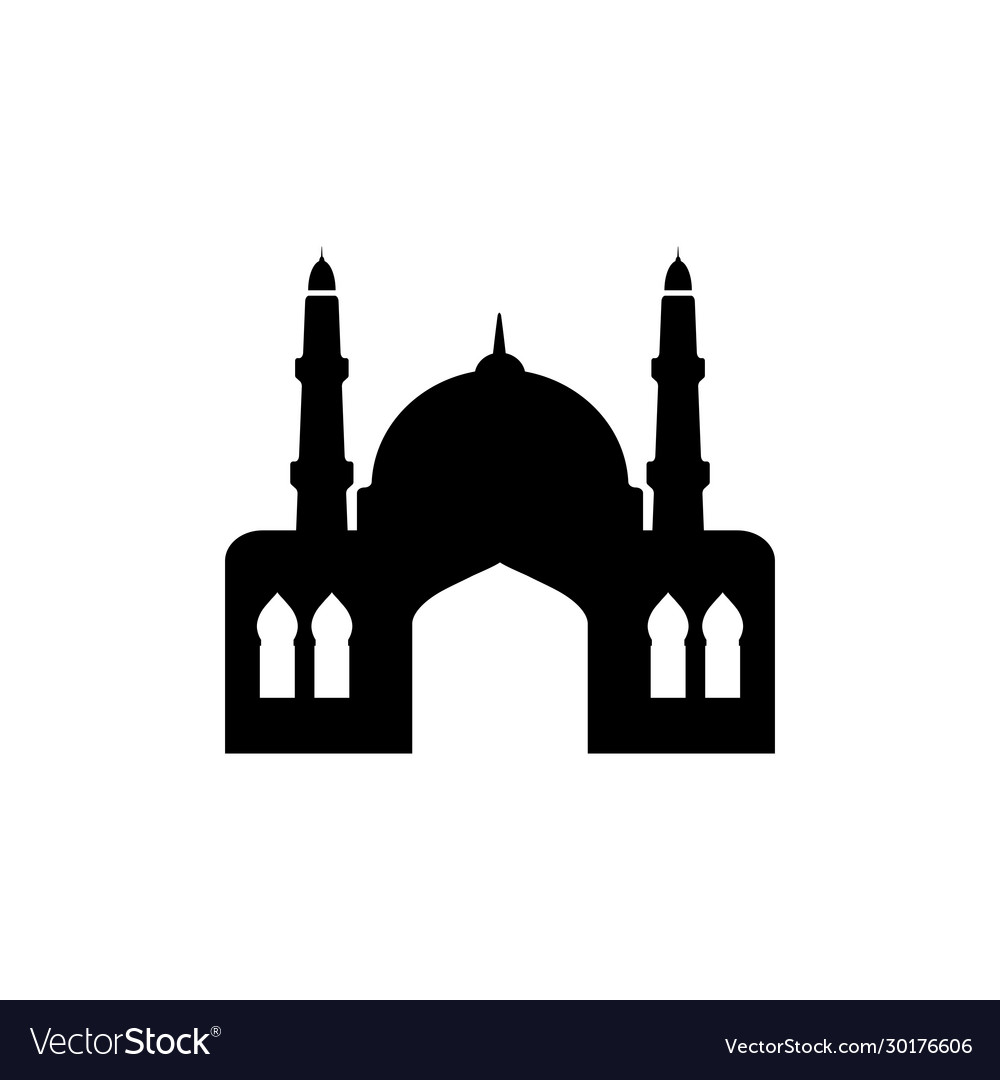 Mosque graphic design template isolated