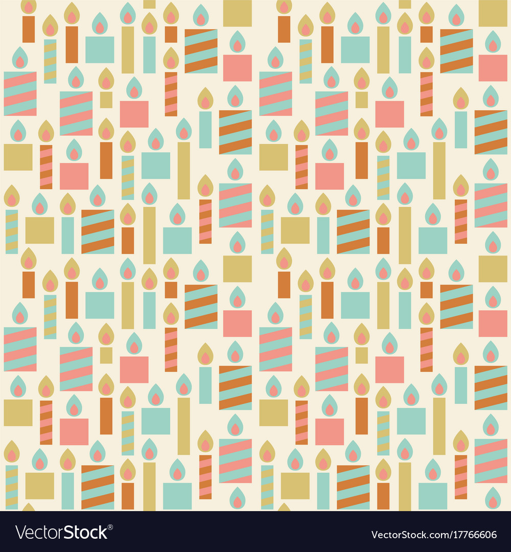 Seamless pattern of birthday candle vector image