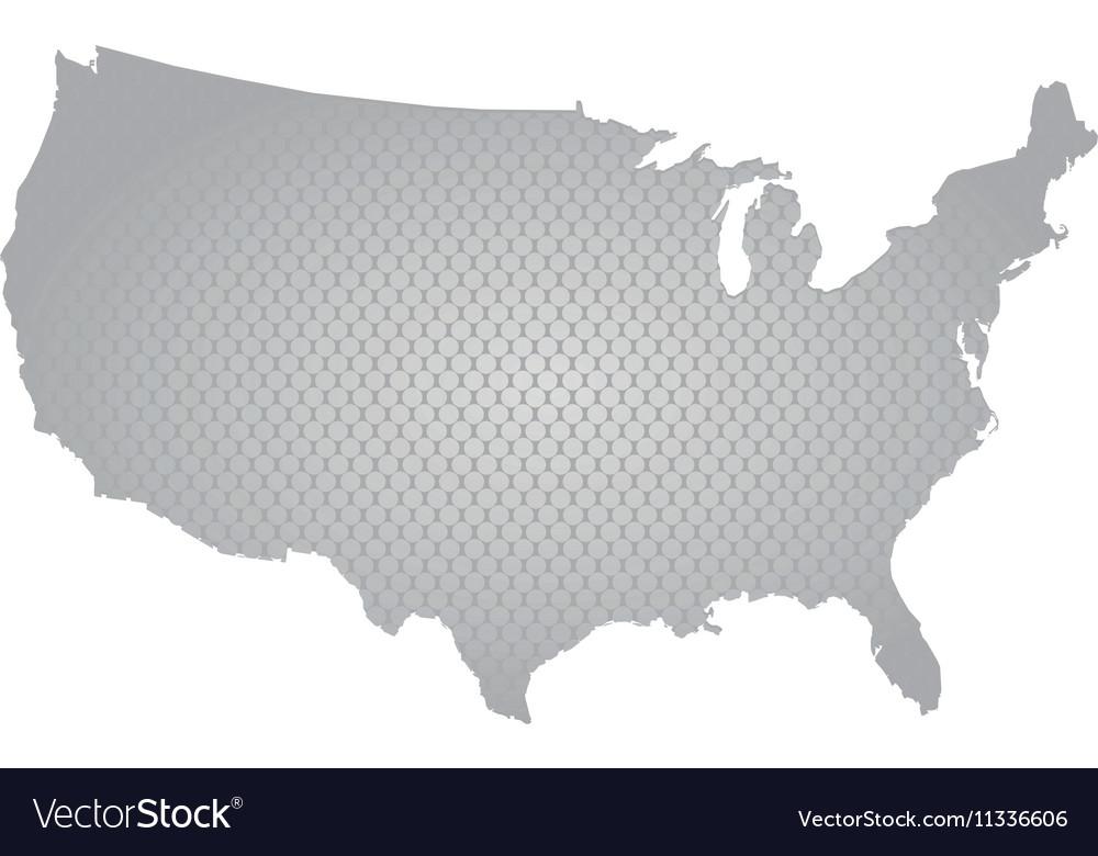 USA map Royalty Free Vector Image - VectorStock
