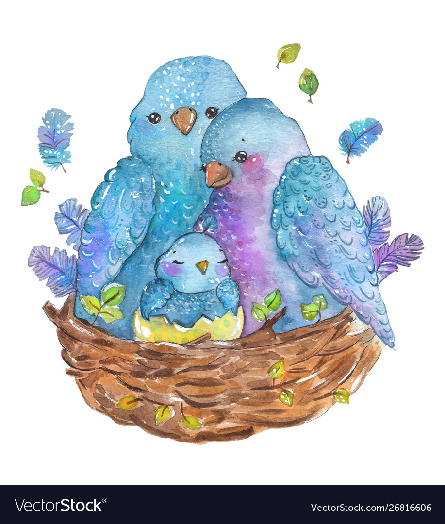 watercolor-birds-family-mother-father-and-chick-vector-26816606.jpg