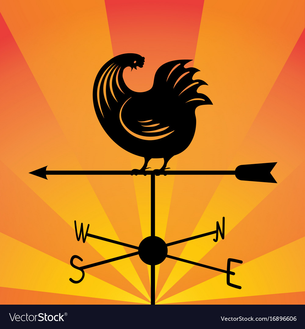 Weathervane - running rooster