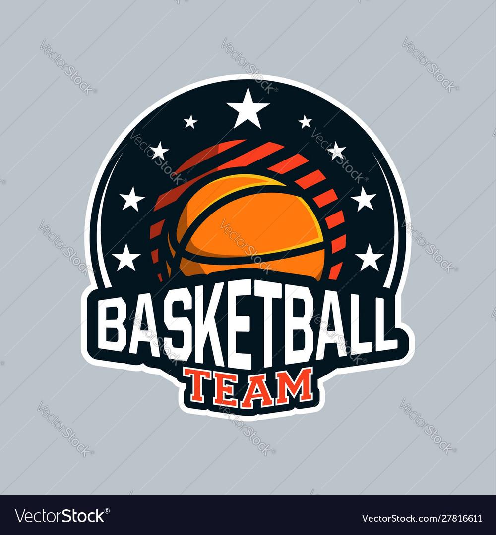 Badge or emblem basketball in modern professional