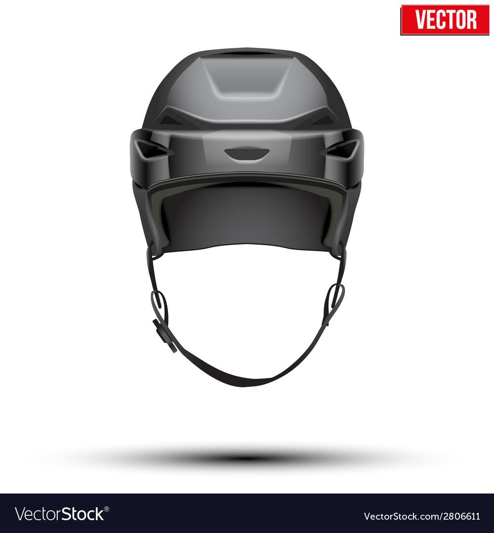 Classic black Hockey Helmet isolated on Background