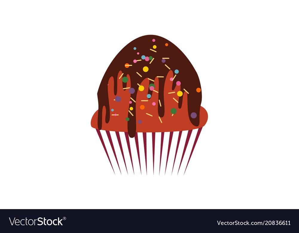 Cup cake dessert logo
