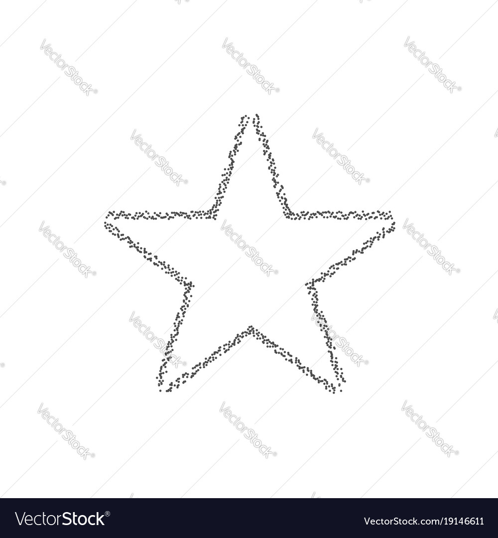 Dotted star shape