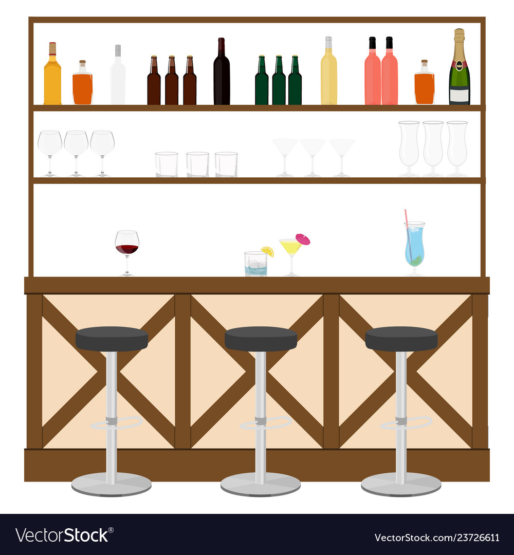 Drinking establishment interior of pub cafe or bar