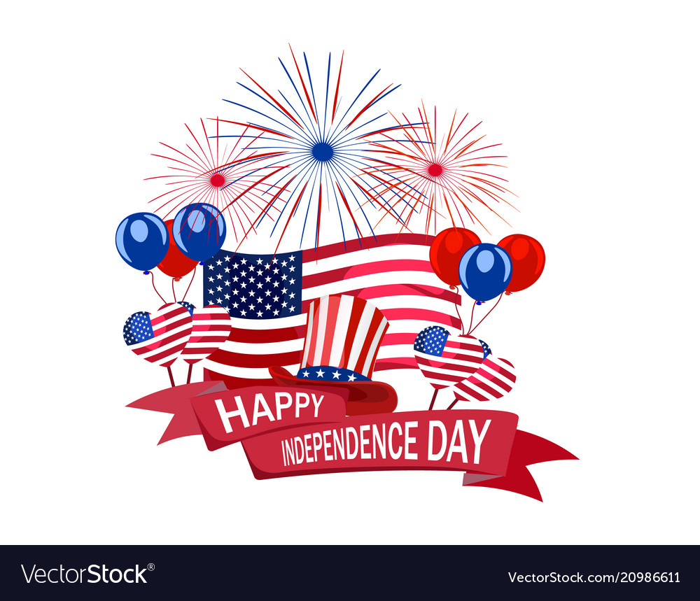 Independence day of america congratulatory