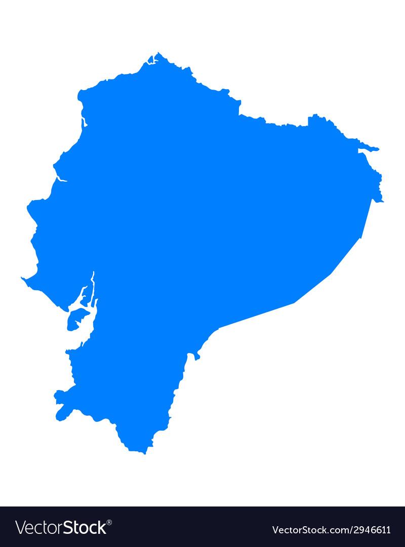 Map of Ecuador Royalty Free Vector Image - VectorStock
