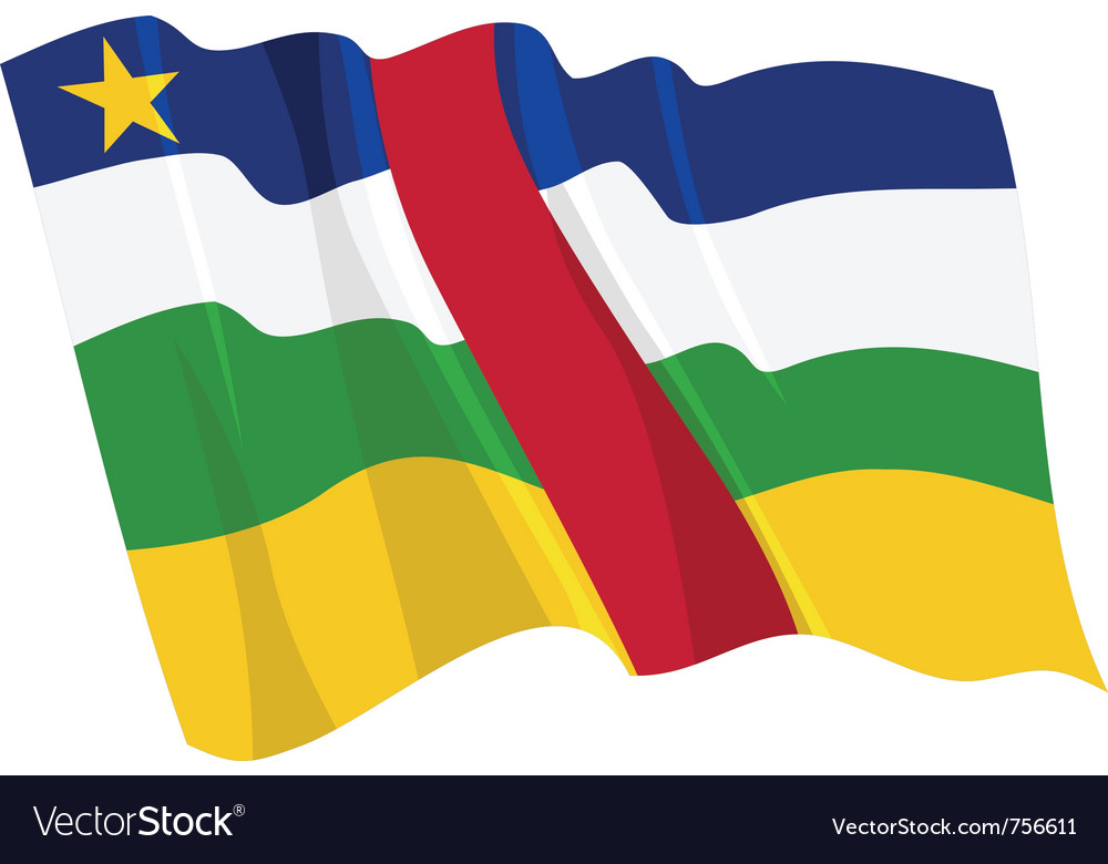 Political waving flag of central african republic vector image